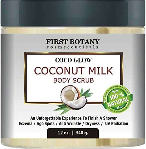 100-Natural-Coconut-Milk-Body-Polish-12-oz-With-Dead-Sea-Salt-and-Vitamin-E-Powerful-Body-Scrub-Exfoliator-and-Daily-Moisturizer-For-All-Skin-Types-0