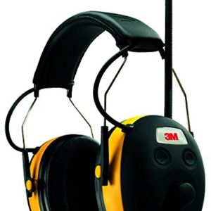 3M WorkTunes Hearing Protector, MP3 Compatible with AM/FM Tuner (90541-4DC)