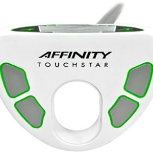 AFFINITY Golf Touch Star Putter, White/Green, Left Hand, 35-Inch