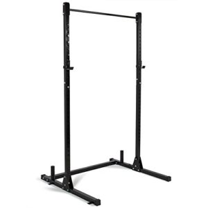 Akonza Barbell Power Rack Exercise Free Stand Bench Presses Squats Shrugs Resistant Bands -Black
