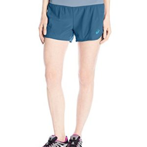 ASICS Women's Woven 2-in-1 Shorts, Ink Blue, X-Small