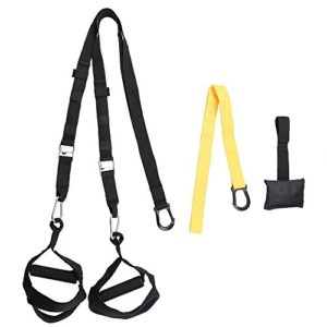AW Nylon Bodyweight Suspension Strap Trainer Door Anchor Kit for Fitness Strength Training Yellow