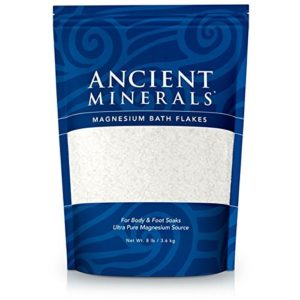 Ancient Minerals Magnesium Bath Flakes 8lb – Pure Genuine Zechstein Magnesium Chloride – Bath Salt Supplement – Best for Topical Skin Absorption in Bath and Foot Soaks