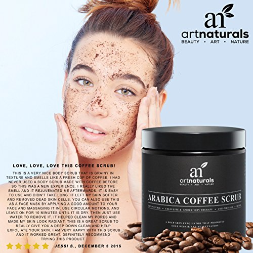 Arabica Coffee Scrub Before And After