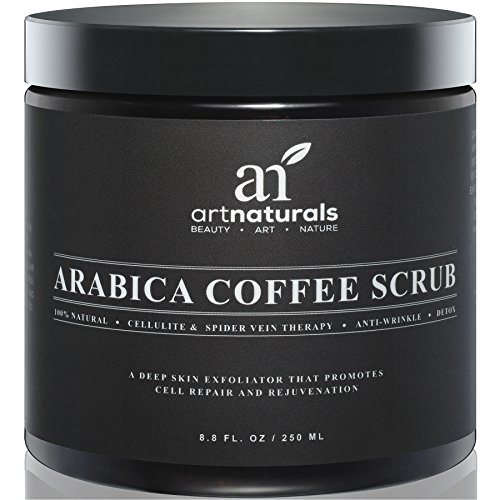 Art-Naturals-Organic-Arabica-Coffee-Scrub-88-oz-The-Most-Powerful-Remedy-for-Varicose-Veins-Cellulite-Stretch-Marks-Eczema-Acne-Deep-Skin-Exfoliator-That-Promotes-Cell-Repair-Rejuvenation-0