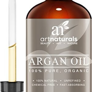 ArtNaturals Pure Morrocan Argan Oil – 4 oz – for Hair, Face & Skin – Grade A Triple Extra Virgin Cold Pressed From The kernels of the Argan Tree – The Anti Aging, Anti Wrinkle Beauty Secret