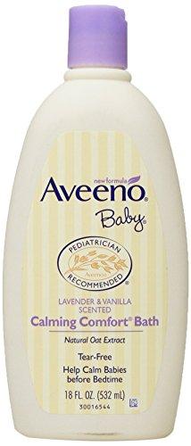 Aveeno Baby Calming Comfort Bath, Lavender & Vanilla, 18 Ounce