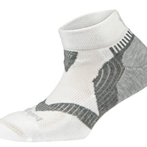 Balega Unisex Enduro 2-Low Cut Athletic Running Socks, White/Grey, Medium (1 Pair)