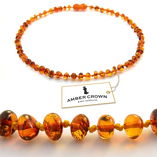 Amber Teething Necklace For Babies Anti Inflammatory