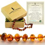 Baltic-Amber-Teething-Necklace-for-Babies-Anti-Inflammatory-Drooling-and-Teething-Pain-Reducing-Natural-Remedy-Polished-Honey-Certified-Baltic-Amber-Beads-0