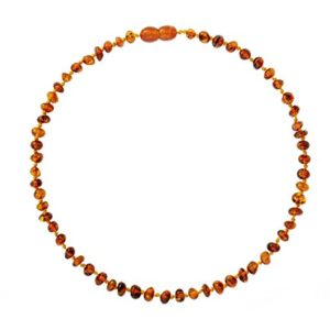 Baltic-Amber-Teething-Necklace-for-Babies-Anti-Inflammatory-Drooling-and-Teething-Pain-Reducing-Natural-Remedy-Polished-Honey-Certified-Baltic-Amber-Beads-0-2