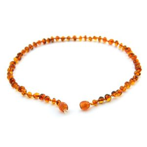 Baltic-Amber-Teething-Necklace-for-Babies-Anti-Inflammatory-Drooling-and-Teething-Pain-Reducing-Natural-Remedy-Polished-Honey-Certified-Baltic-Amber-Beads-0-3