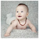 Baltic-Amber-Teething-Necklace-for-Babies-Anti-Inflammatory-Drooling-and-Teething-Pain-Reducing-Natural-Remedy-Polished-Honey-Certified-Baltic-Amber-Beads-0-5