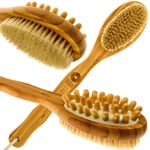Bath-Blossom-Bamboo-Body-Brush-for-Back-Scrubber-Natural-Bristles-Shower-Brush-with-Long-Handle-Excellent-for-Exfoliating-Skin-Use-Wet-or-Dry-Suitable-for-Men-and-Women-0