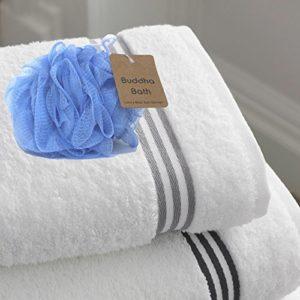 Buddha Bath Large Mesh Loofah Pouf Bath Sponges – 3 Pack – HIS