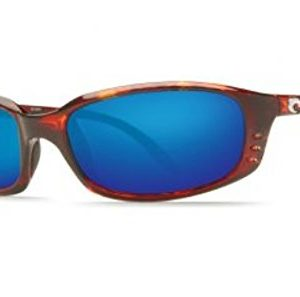 Costa del Mar Unisex-Adult Brine BR 10 OBMGLP Polarized Iridium Oval Sunglasses, Tortoise, 58.8 mm