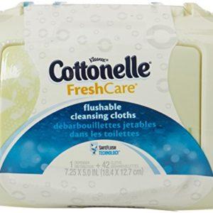 Cottonelle FreshCare Flushable Cleansing Cloths, 42 Count