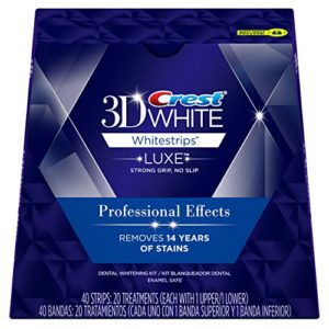 Crest 3D White Professional Effects Whitestrips Dental Whitening Kit, 20 Treatments – Packaging May Vary