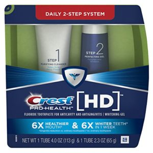 Crest Pro-Health HD Toothpaste, Teeth Whitening and Healthier Mouth via Daily Two-Step System – 4.0 Oz and 2.3 Oz Tubes