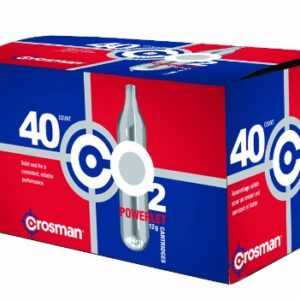 Crosman 12 Gram CO2 Cartridges – Pack of 40