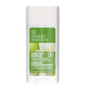 Desert Essence Deodorant, Spring Fresh, 2.5 Ounce