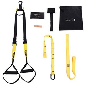 FITMYFAVO Military Grade Suspension Straps Total Body Workout Trainer Pro Kit (3 Colors) (Yellow)