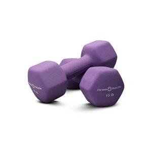 Fitness Republic Neoprene Dumbbells 15 lbs Set (Neoprene Weights)