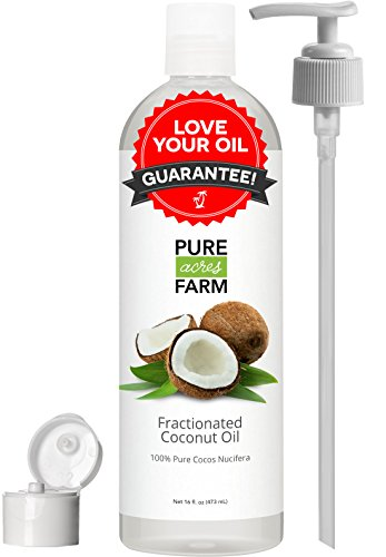 Fractionated-Coconut-Oil-Liquid-Large-16oz-WITH-PUMP-FREE-Recipe-eBook-Use-with-Essential-Oils-and-Aromatherapy-as-a-Carrier-and-Base-oil-Add-to-Roll-On-Bottles-for-Easy-Application-0