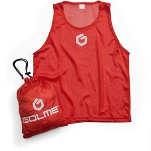 GOLME PRO Pinnies 12-Pack Red Small – Scrimmage Training Vests & Carry Bag