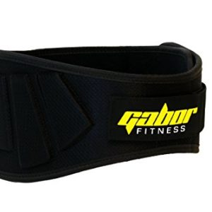 Gabor Fitness Contoured Neoprene Weight Lifting Belt with 6″ Back Support, XX-Large