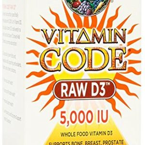 Garden of Life Vitamin Code RAW D3 5000, 60 Capsules