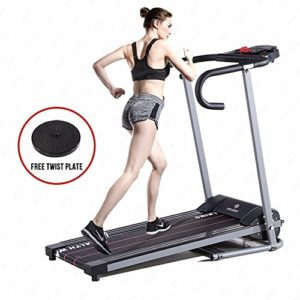H.B.S Portable Folding Electrical Running Machine Motorized Treadmill Home Gym Running Machine Black